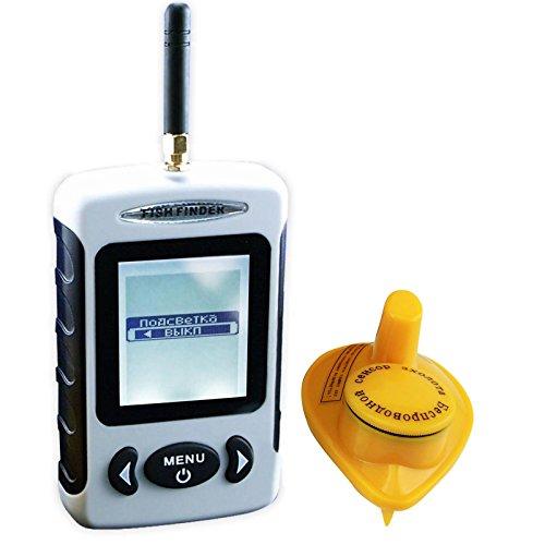 Lucky FFW 718 Sonar sans fil détecteur de poisson Portable et résistant à l'eau avec matrice à points Portée 40 m, Ffw-718ru