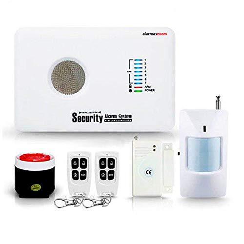 Alarma AZ018 casa hogar negocio GSM sin cuotas inalámbrica. Voces en castellano.Sin cuotas de conexión. Aviso llamada o SMS. Instrucciones instalación castellano. Facil configuración (Kit)