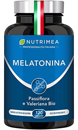 MELATONINA PURA per ritrovare il sonno | 1,8 mg/giorno | SCORTA per 3/4 MESI | 120 capsule naturali e vegetali da 0.9 mg | Favorisce il sonno e limita gli effetti del jet lag