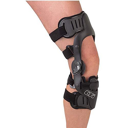 Össur CTi ® OTS Knie-Orthese, Knieschiene, einstellbare Knie-Stütze, Moto-Cross-Knie-Orthese, Surf-Orthese, Kitesurf-Kniebandage, Farbe:schwarz, Größe:M/rechts