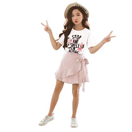 Conjunto de ropa para niñas de 0 a 10 años de edad, conjunto de ropa para bebé, rosa, 4-5 Años Old