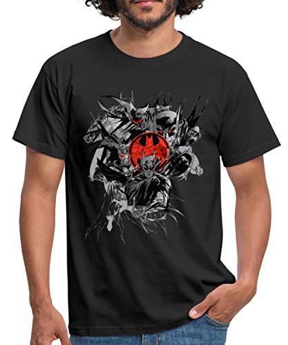 DC Comics Batman Fledermaus Dark Knight Männer T-Shirt, L, Schwarz