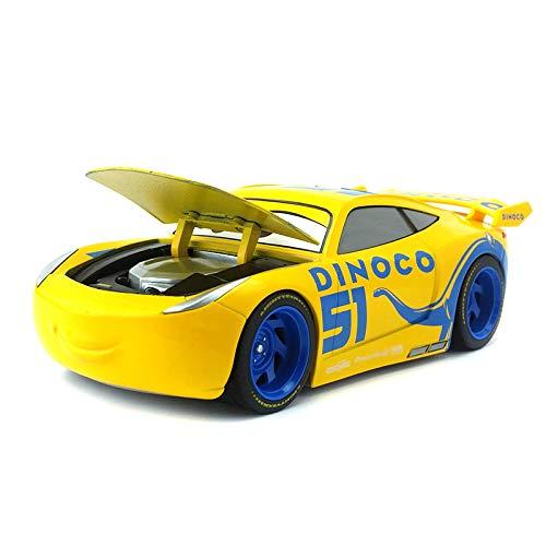 Disney Disney Pixar Cars 3 Large No.95 Lightning McQueen Cruz Ramirez Jackson Storm Metal Diecast Toy Car 1:24 Kids Gift Dinoco Cruz Ramirez