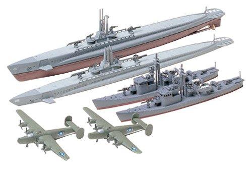 タミヤ 1/700 ウォーターラインシリーズ No.903 アメリカ海軍 潜水艦 ガトー級 日本海軍 13号駆潜艇 各2艦...