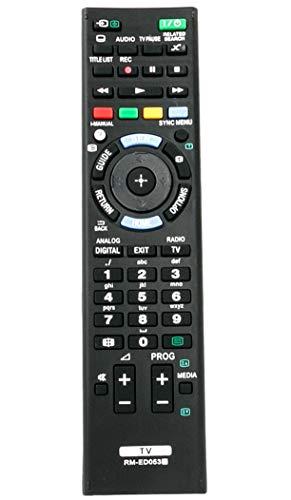 VINABTY RM-ED053 Fernbedienung für Sony KDL-42W656A KDL-42W654A KDL-42W653A KDL-42W651A KDL-32W656A KDL-32W655A KDL-32W651A KDL-32W603A KDL-32W600A KDL-50W655A KDL-42W650A KDL-32W650A KDL-50W685A TV