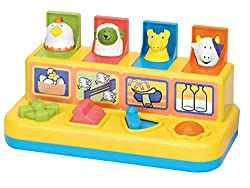 Fun Time Pop Up Farmyard Friends toy, suitable for ages 18 months and upwards Lots of features for your child including buttons, levers, and push-down flaps Friendly farmyard animal characters to entertain your toddler Bright colours and safe, durabl...