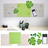 """SnailGarden Square Felt Bulletin Board, 11.8"""" x 11.8"""" Pin Board Wall Decor with 9 Leaf Push Pins+2 Leaf Felt Decoration+1 to Do List Book, Perfect for Home Office School As Notice Board Memo Board"""