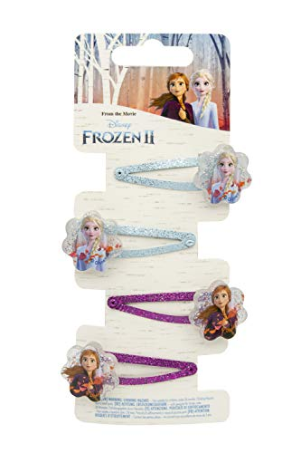 Disney Frozen 19382 2-4 Haarspangen, Mehrfarbig
