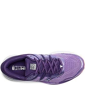 Saucony Women's Omni ISO 2 Running Shoe, Purple/Peach, 5.5 M US