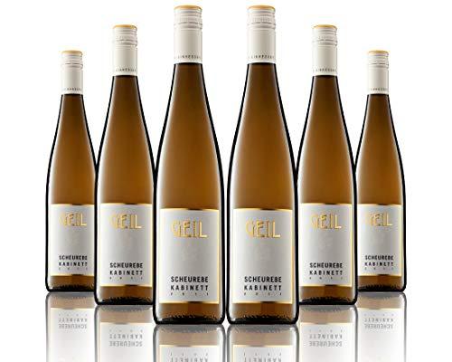 6 Flaschen Johann Geil   Weißwein Scheurebe Kabinett   2019   Deutscher Wein   Qualitätswein   Oekonomierat Johann Geil Erben   Rheinhessen   Nr. 1924