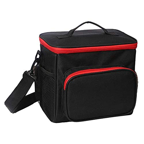 AINY Can Cooler Bag Lunch Bag, Cooler Bag Insulated, Small Cooler Bag with Liner A Prueba De Fugas Cubo Duro para Hombres, Mujeres, Viajes, Camping, Picnic, Playa, Barbacoa,Negro