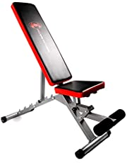 CCLIFE Banco multifuncional para casa Fitness - Banco ajustable para abdominales 2 en 1