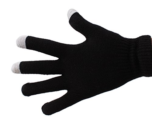 DURAGADGET Unisex Black Touch Screen Gloves (Large) - Suitable For Acer Iconia Tab A1-810| Acer Iconia Tab B1-710
