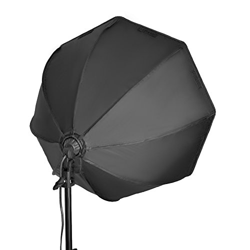 Neewer 31.5 inches Pro Octagon Video Studio Continuous Softbox Lighting Kit with Solid Stand, 85W Bulb, E27 Socket, External White Diffuser for Product Portrait Camera Photo Video Photography