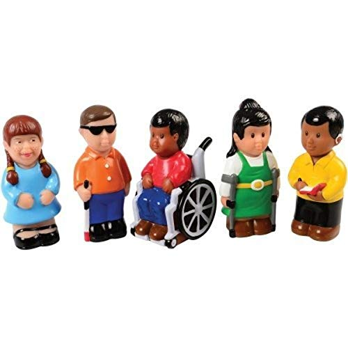 Constructive Playthings POM-20 Easy Grip Friends with Diverse Abilities Set of 5