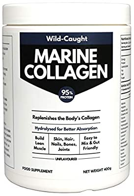 Marine Collagen Peptides (400g) | Hydrolysed from Wild Caught North SEA Cod | 1.5X Better Absorbed Protein Powder | Amino Acids for Bone, Joint, Gut, Hair and Youthful Skin | Halal, Kosher, Keto
