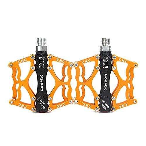 ZSDFW 2 pedali in alluminio per mountain bike, impermeabili, antipolvere, antiscivolo, per mountain bike, BMX, MTB, bici da strada, colore: oro