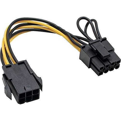 Mainboard Strom Adapter PCI Express 6pol auf 8pol Netzteil Stecker Grafikkarte PCI Express Ansch 2er Pack