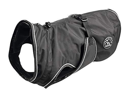 HUNTER Uppsala Hundemantel, wasserabweisend, winddicht, Fleecefutter, reflektierend, 40, schwarz