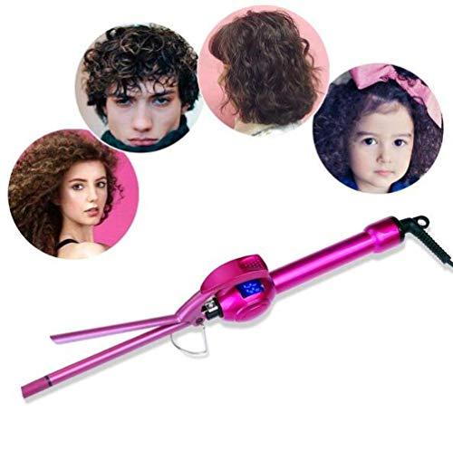 AICKERT 9mm Mini Curling Iron,Small Barrel Curling Tongs Hair Curler Tourmaline Ceramic Curling Wand for Men Women Kids Short Hair and Long Hair Tool