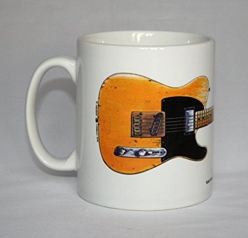 Gitarre-Krug. Keith Richards' Fender Telecaster Gitarre 'Micawber' Abbildung.