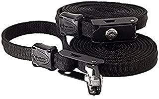 Lockable Tie Down Security Lock Lashing Strap With Steel Core by LightSPEED Outdoors, (10' Black, 2 PACK)