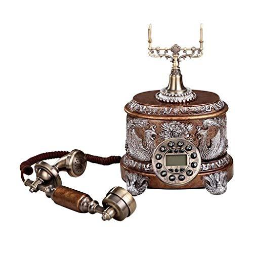 Telefono retro Bronce Resina Tipo de Botón de Metal Pastoral Moda Asiento Creativo Estilo Europeo Home Office 22cm * 31cm * 25cm MUMUJIN