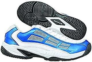 BELCO Nivia Men's Ray PU White and Blue Tennis Shoes