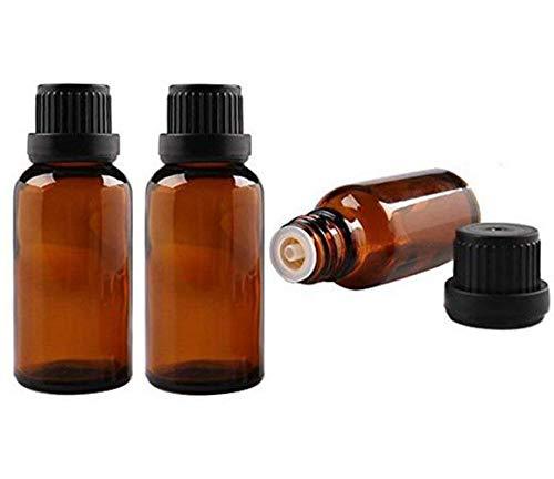 3 botellas vacías recargables de cristal ámbar para aceites esenciales de viales,...