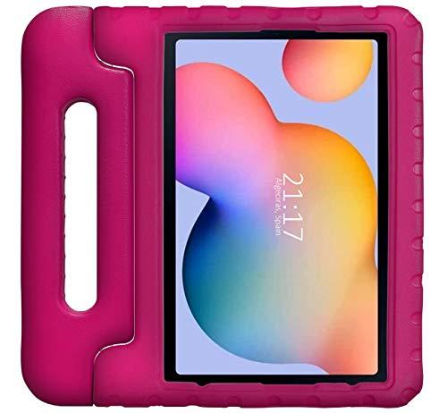 Funda Infantil Antigolpes con Asa para Samsung Galaxy Tab S6 Lite Color Rosa