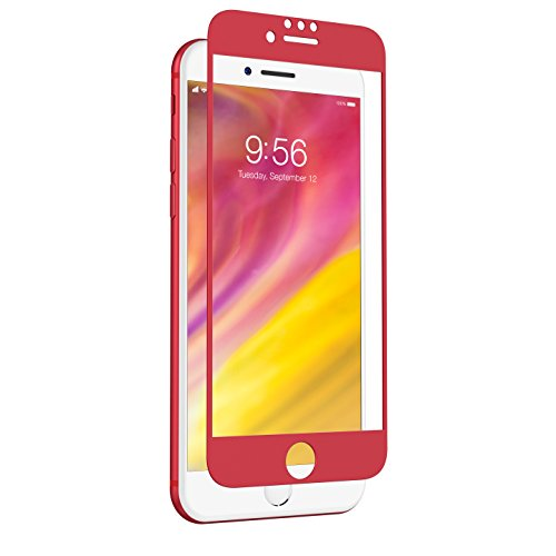 ZAGG InvisibleShield Glass + Luxe Screen Protector for iPhone 8 Plus/7 Plus/6s Plus/6 Plus - Red