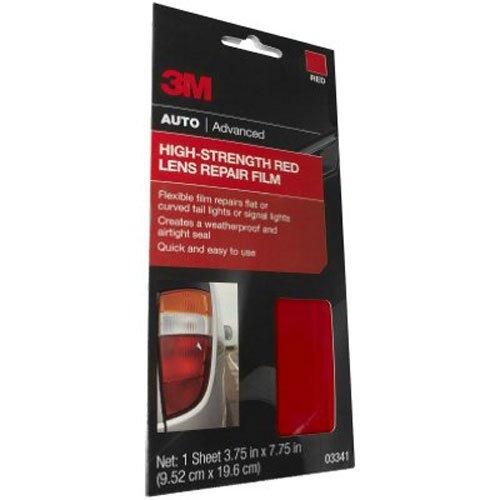 3M Auto High Strength Red Lens Repair Film 03341 375 in x 775 in