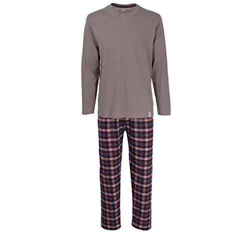 TOM TAILOR Herren Nachtwäsche Zweiteiliger Schlafanzug, Pyjama lang, aus Baumwolle 50