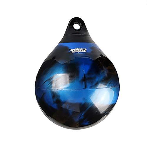 ZoSiP Wasser Schwere Boxen Geschwindigkeits Tasche Thick 3MM Leder Wasser Boxsack Gefüllt Mit Wasser Oder Sand Box Krafttraining Hängender Schlagbeutel (Color : Blue, Size : 45x58cm)