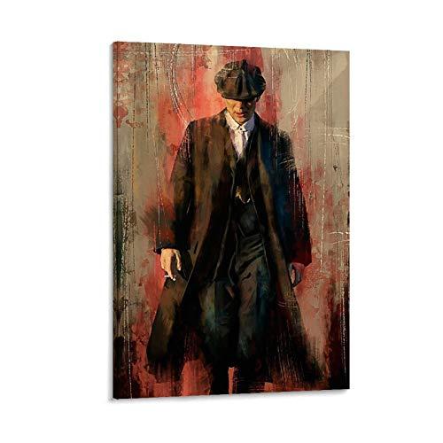 JINYOU Póster de Peaky Blinders para fans de la película Peaky Blinders, impresión artística para pared, decoración moderna para habitación familiar, 60 x 90 cm