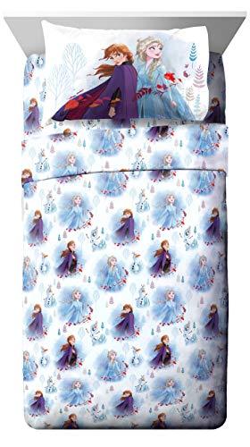 Jay Franco Disney Forest 3 Piece Twin Sheet Set, Frozen 2 Spirit