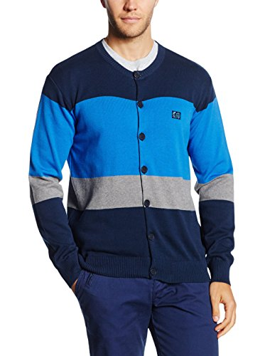 The Indian Face 14-009-02, Cardigan Homme, Navy, Large