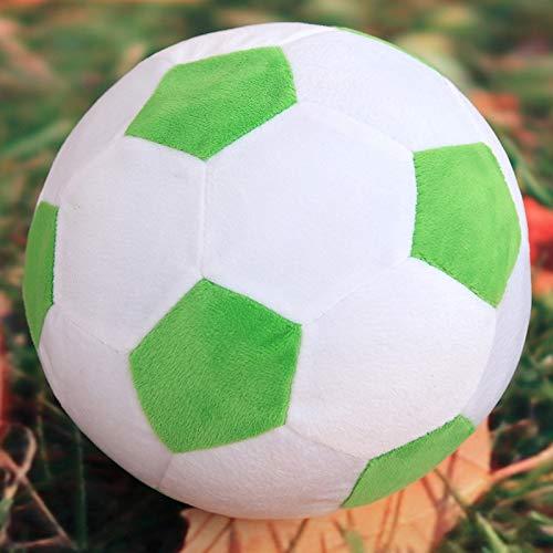 DishyKooker Fu?Ball-Kissen angef¨¹lltes flaumiges Pl¨¹sch-Baby-Fu?Ball-weiches dauerhaftes Fu?Ball-Sport-Spielzeug-Geschenk f¨¹r Kinder Gr¨¹nwei? (Fu?Ball) 20 cm Komfortables Leben