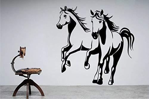 Vinilo pegatinas de pared pared caballo letras inspiradoras pegatinas hogar pared