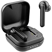 Wireless Earbuds, Willful Bluetooth Earbuds with Microphone, Stereo Sound, Clear Call, Touch Control, USB-C Charge, Bluetooth V5.0, Waterproof, Secure Fit, in-Ear Headphones Earphones (Black)