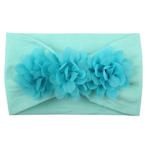Alikey meisjes baby kinderen turban haarband solide haarband bloem accessoires hoofdbescherming meisjes met bloemen strass elastisch kapsel voor verjaardag fotografie kleur