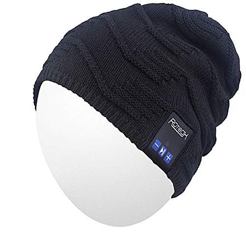 Qshell Wireless Bluetooth Beanie Hut Mütze mit Musikphone Speakerphone Stereo Kopfhörer Headset Kopfhörer Lautsprecher Mic für Fitness Outdoor Sport Skifahren Running Skating