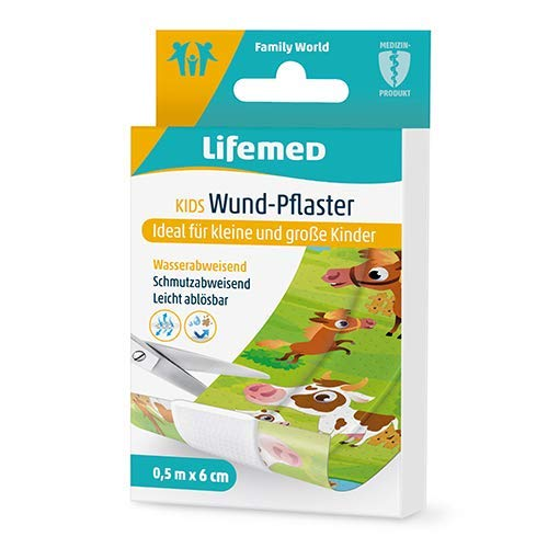 Lifemed Kids Wund-Pflaster 0,5 m x 6 cm farbig