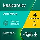 Kaspersky Anti-Virus 2021   4 PCs   1 Año   PC   Código de activación vía correo electrónico