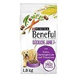 PURINA BENEFUL Pienso seco para Perros Feliz años 7+ (con Pollo, Verduras de jardín y vitaminas), Pack de 6 (6 x 1,5 kg) Bolsa