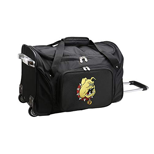 Amazing Deal NCAA Ferris State Bulldogs Wheeled Duffel Bag, 22-inches