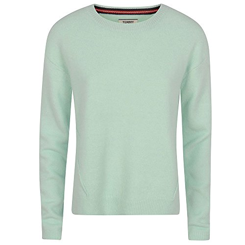 Tommy Hilfiger Basic Sweater suéter, Azul (Aqua Foam 385),