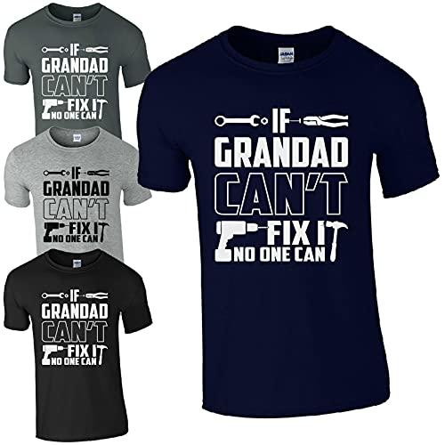 If Grandad Can't Fix It No One Can T-Shirt Funny DIY Joke Gift Grandads Mens Top