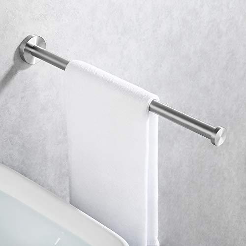 KES Handtuchstange Bad Handtuchhalter Edelstahl SUS304 Badetuchhalter Handtuch Halter Wandmontage Stabil 40CM Gebürstet, BTH211S40-2