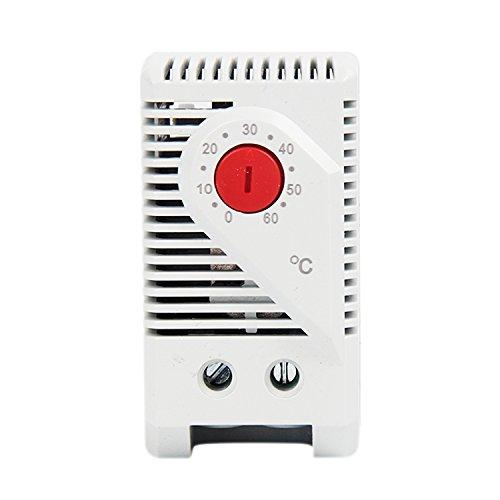 Termostato mecánico ajustable Langir, pequeño, compacto; controlador de temperatura de 0 a 60 grados, para armario